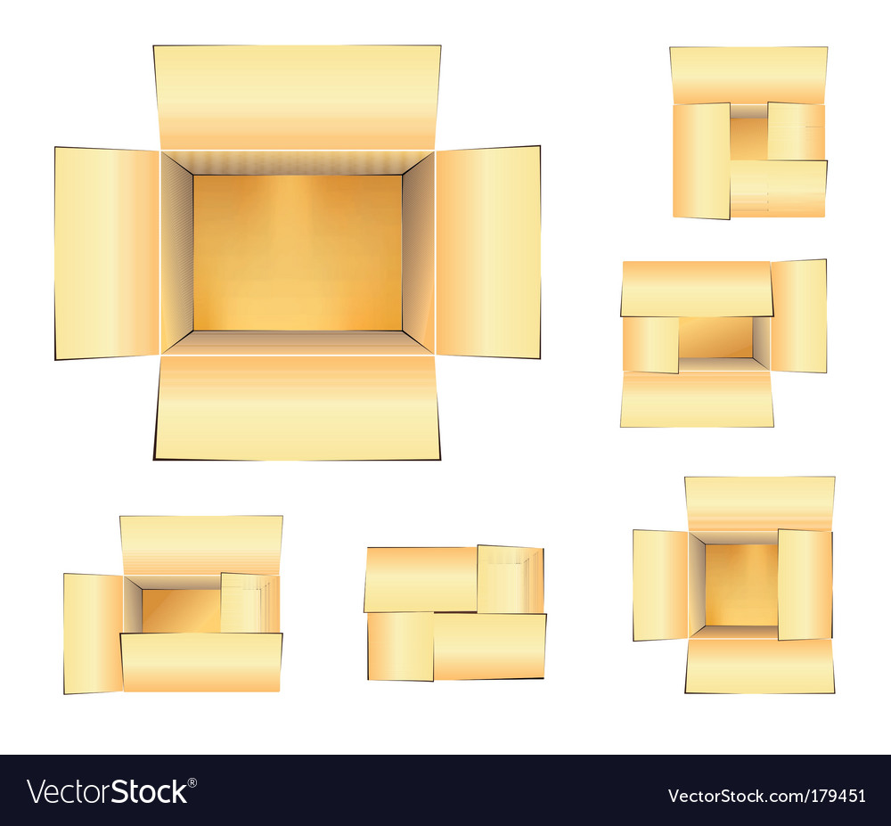 Shipping boxes set vector | Price: 3 Credit (USD $3)