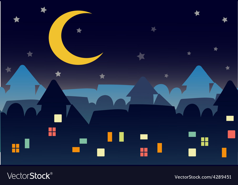 Town night star vector | Price: 1 Credit (USD $1)