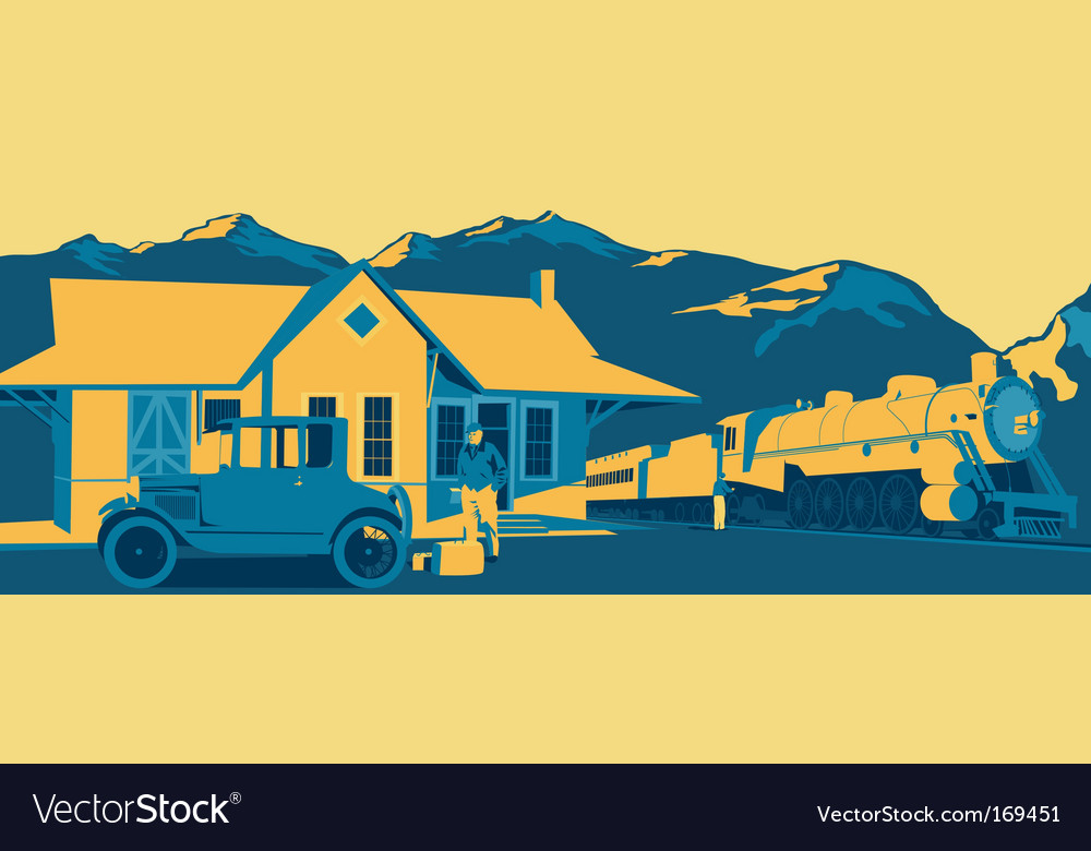Train station vector | Price: 1 Credit (USD $1)
