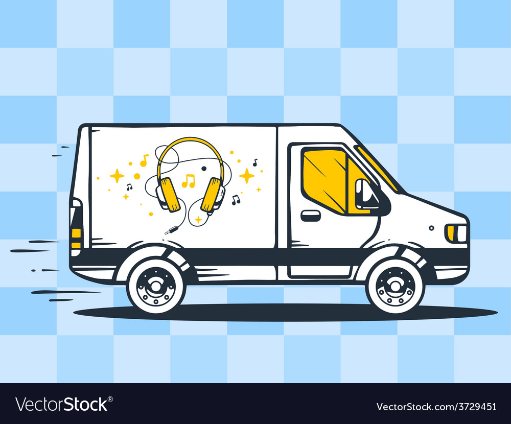 Van free and fast delivering headphones t vector | Price: 1 Credit (USD $1)