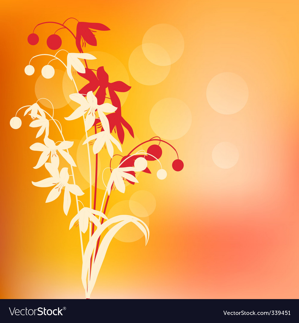 Warm background with spring flowers vector | Price: 1 Credit (USD $1)