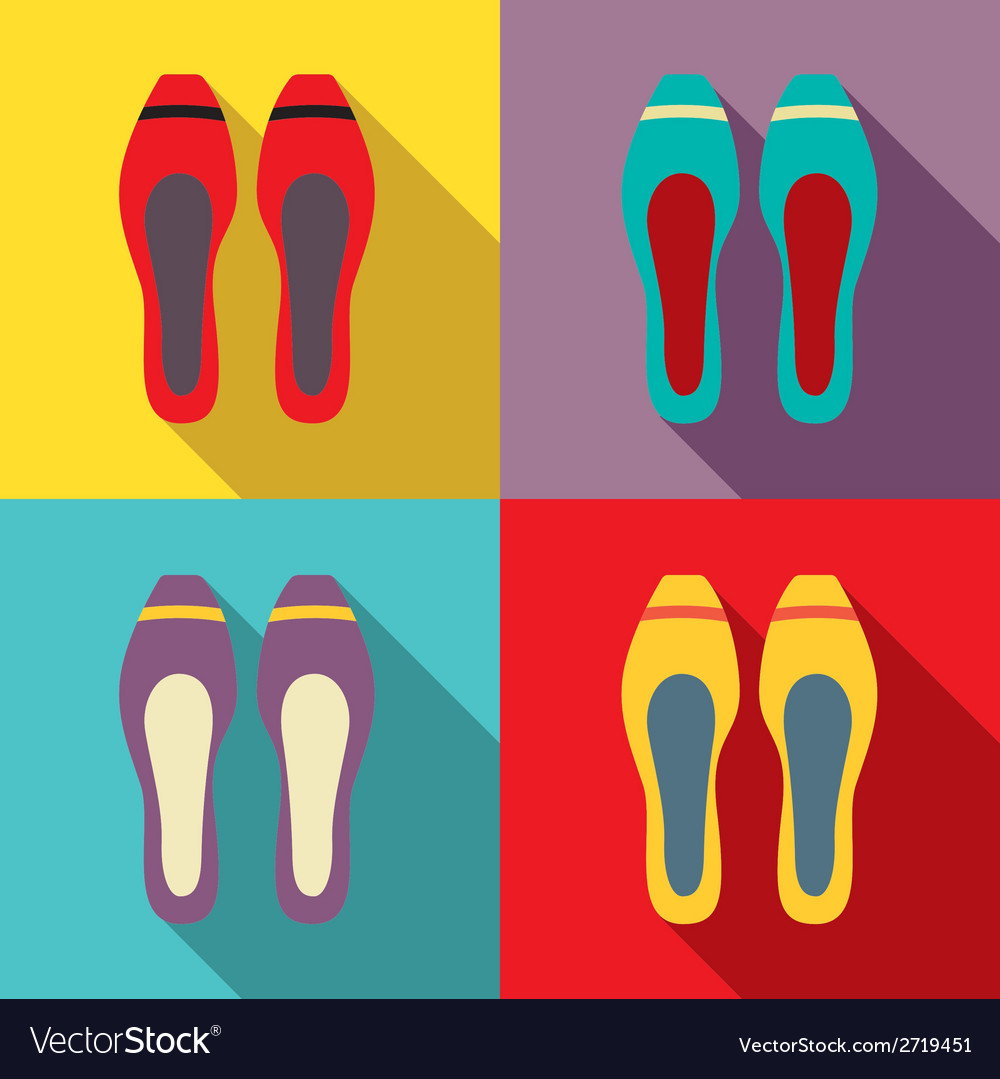 Women flat shoes vector | Price: 1 Credit (USD $1)