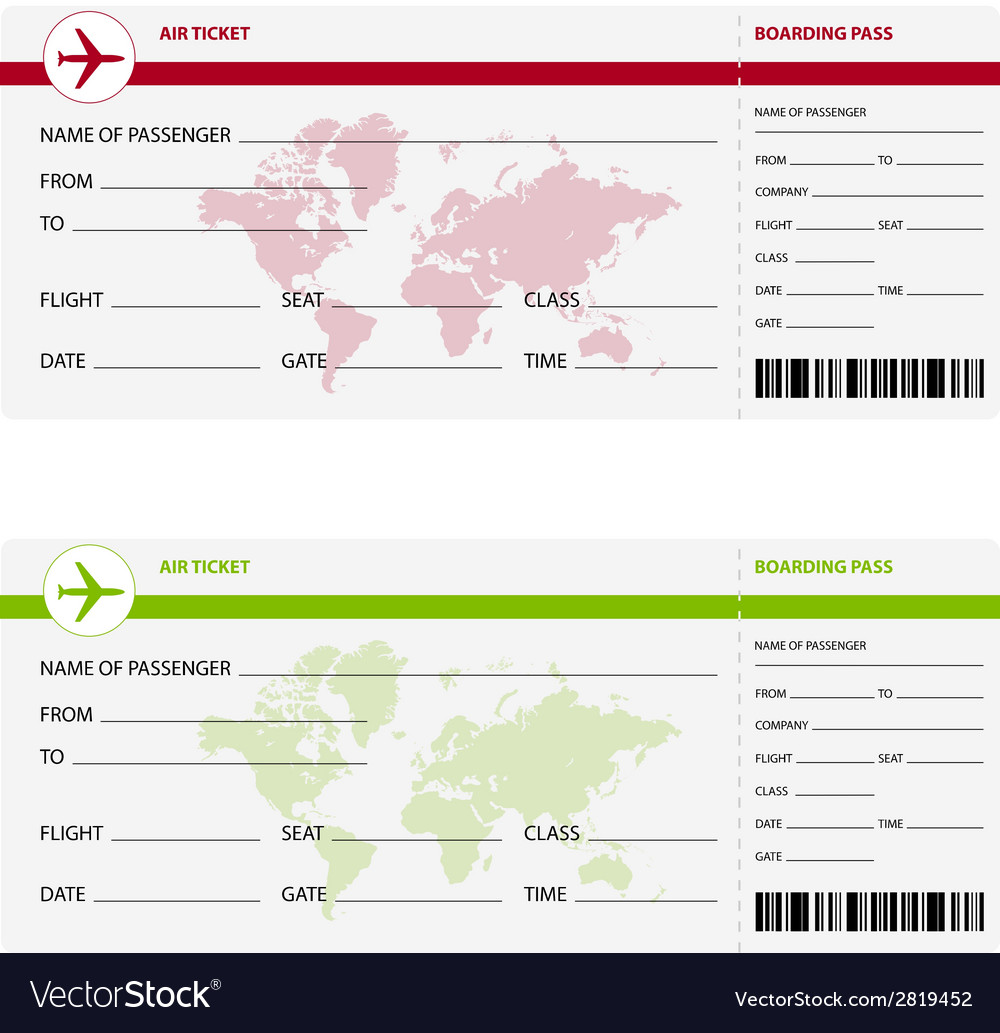 Air ticket world vector | Price: 1 Credit (USD $1)