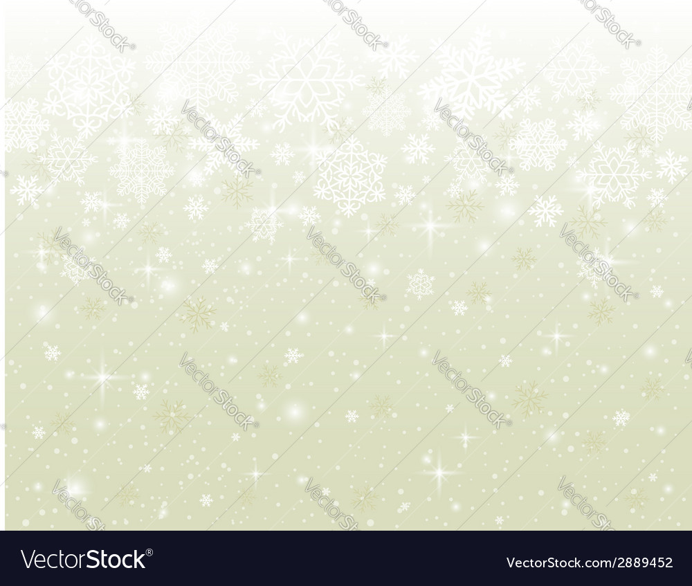 Beige background with snowflakes vector | Price: 1 Credit (USD $1)