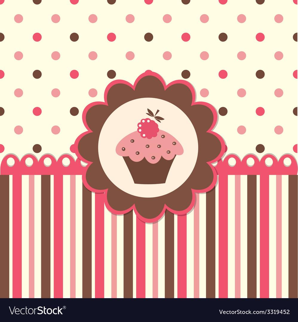 Cake background vector | Price: 1 Credit (USD $1)