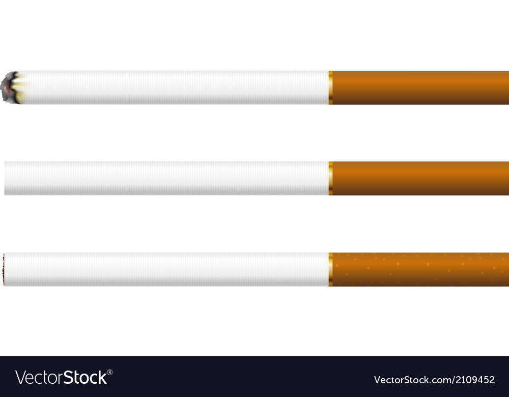 Cigarettes on a white background vector | Price: 1 Credit (USD $1)