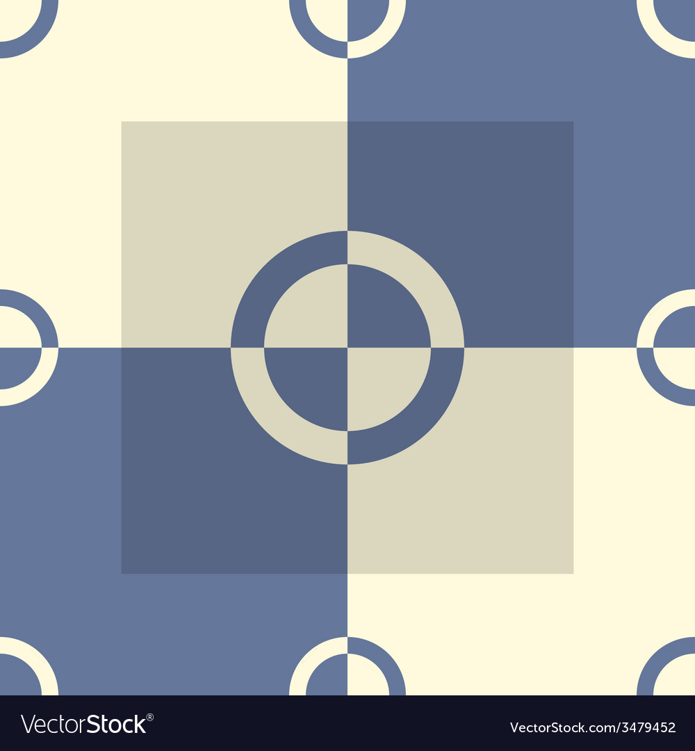 Circle-squares pattern in blue and sand colors vector | Price: 1 Credit (USD $1)
