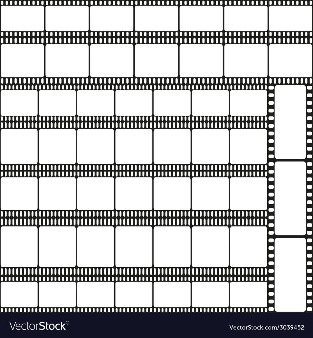 Film strips seamless pattern vector | Price: 1 Credit (USD $1)