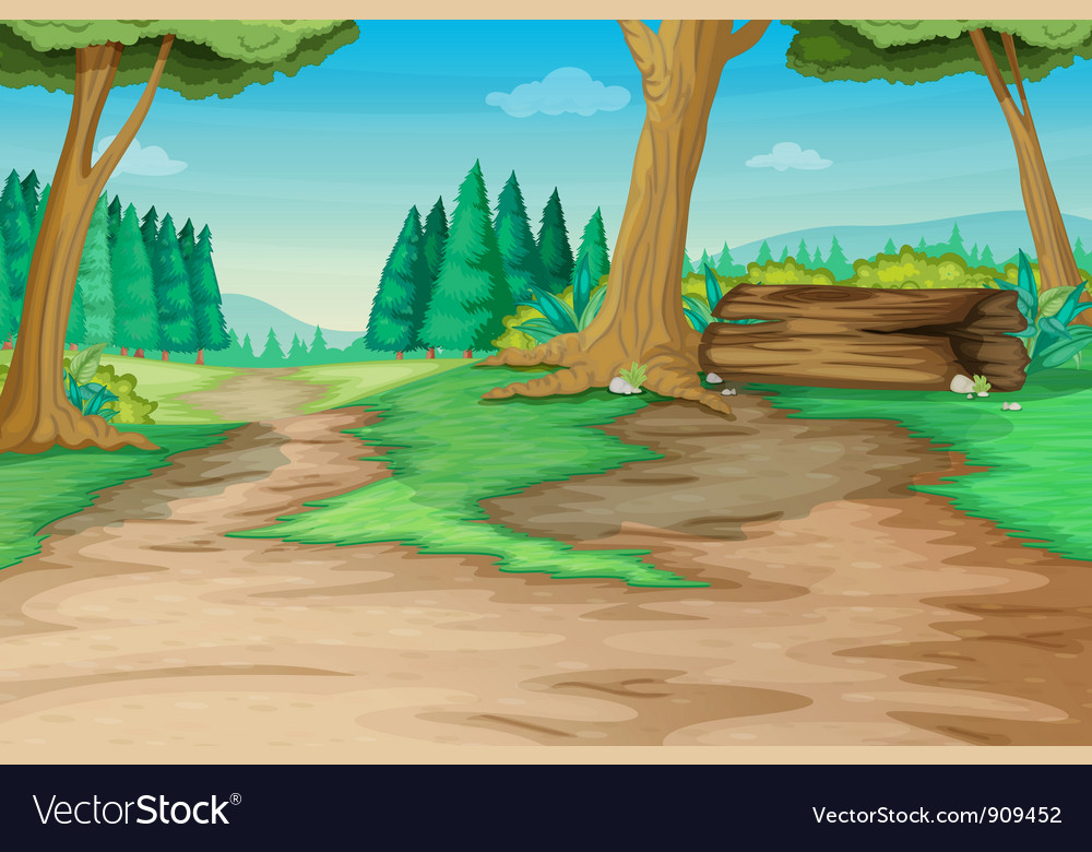Forest path vector | Price: 3 Credit (USD $3)