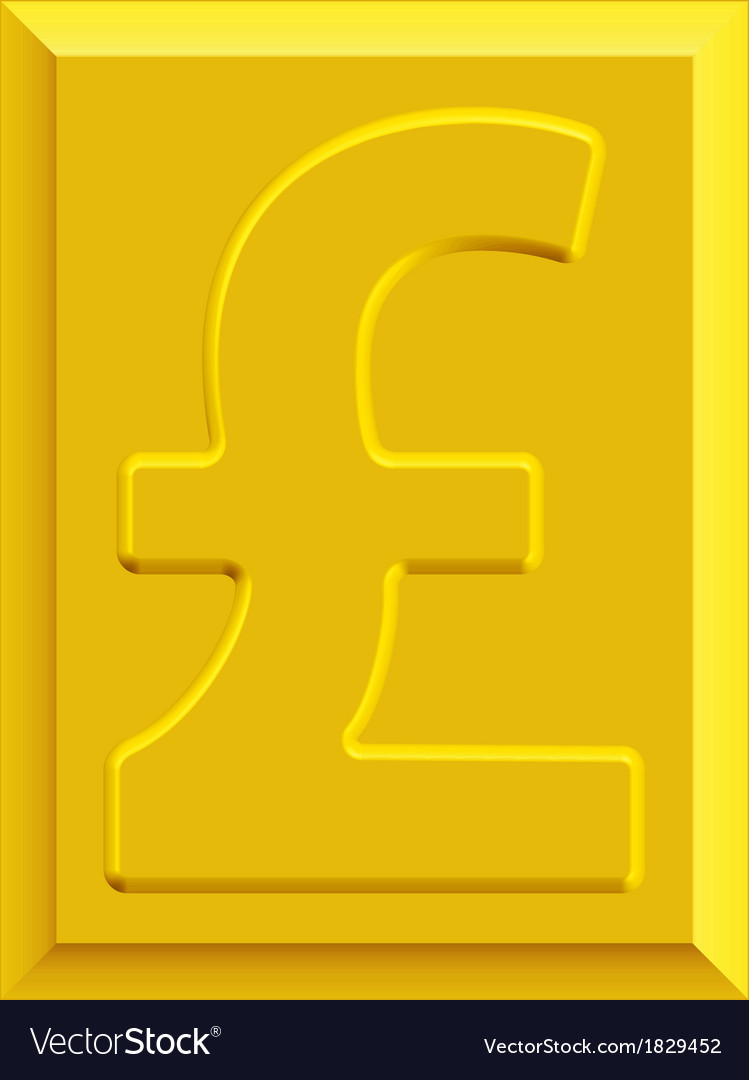Gold pound sterling vector | Price: 1 Credit (USD $1)