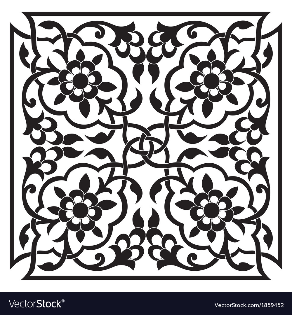 Oriental ottoman design one vector | Price: 1 Credit (USD $1)