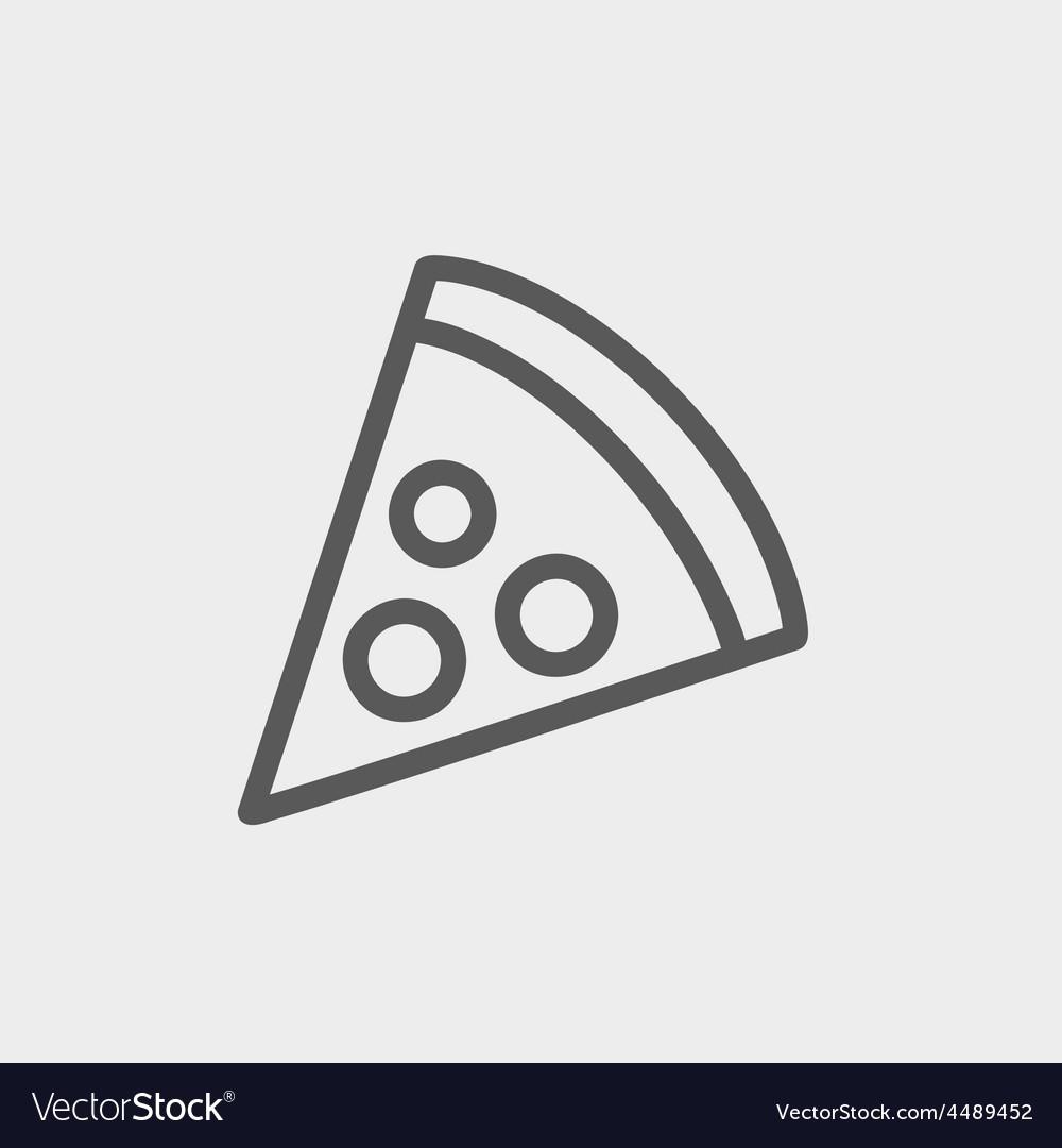 Pizza slice thin line icon vector   Price: 1 Credit (USD $1)