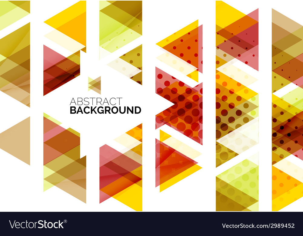 Red orange yellow triangles vector | Price: 1 Credit (USD $1)