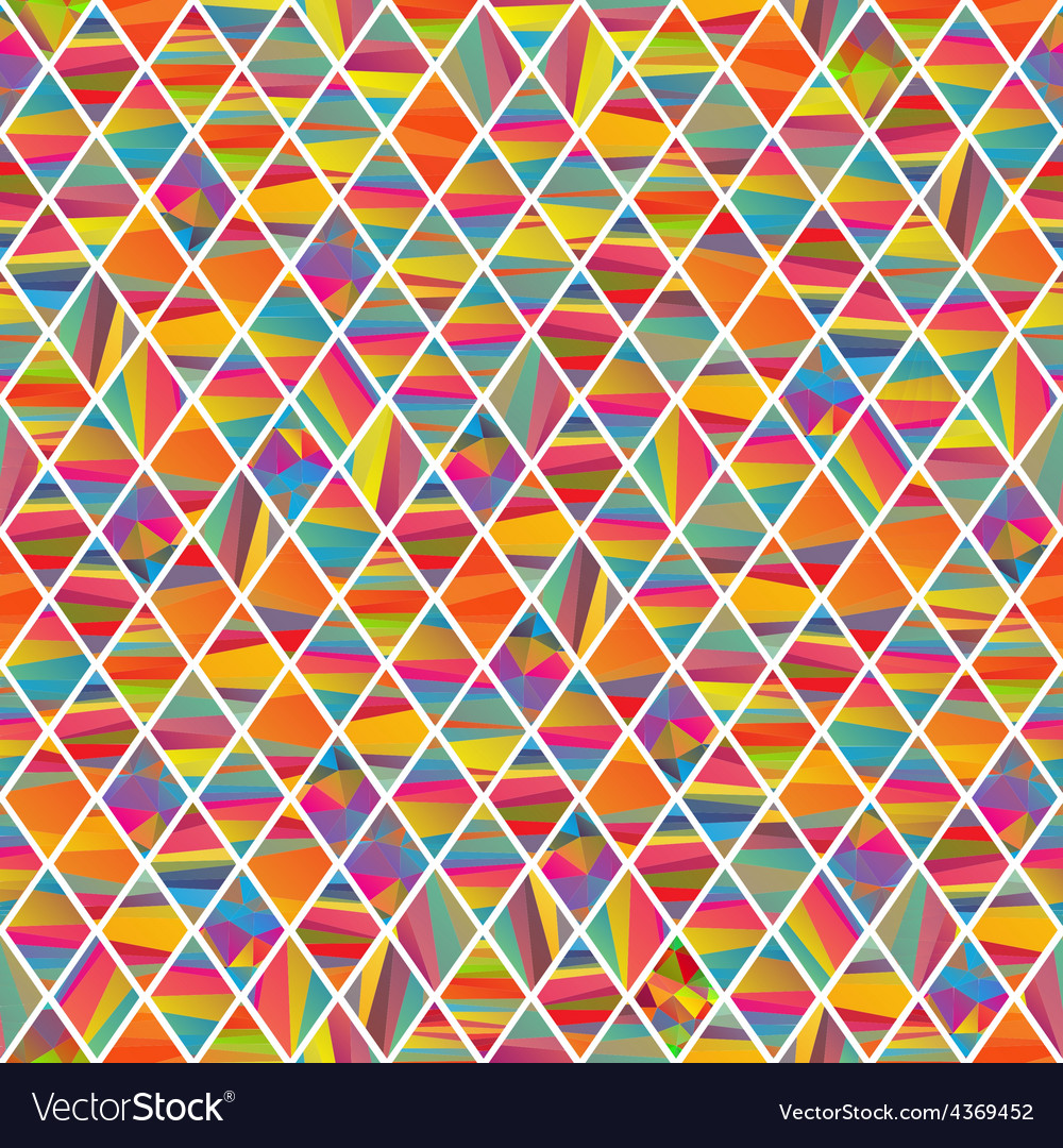 Seamles pattern with colorfull rhombus vector | Price: 1 Credit (USD $1)