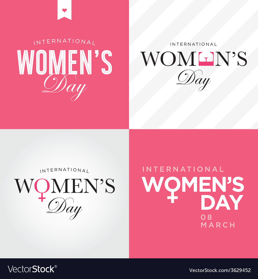 Womens day set logo vector | Price: 1 Credit (USD $1)