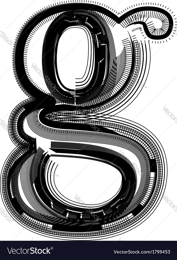 Abstract font letter g vector | Price: 1 Credit (USD $1)
