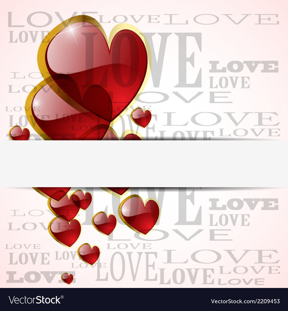 Abstract glossy heart on white vector | Price: 1 Credit (USD $1)