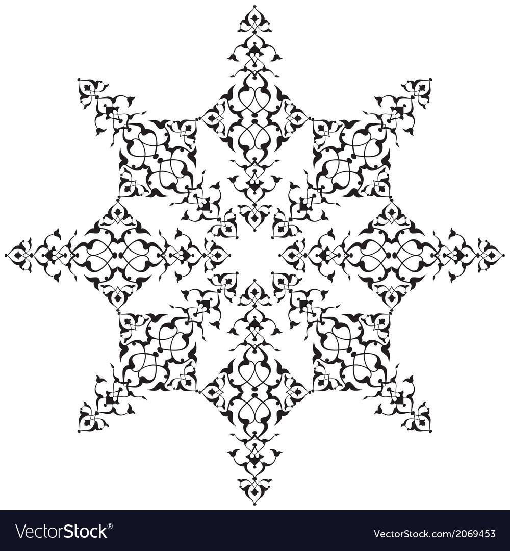 Black oriental ottoman design thirty seven vector | Price: 1 Credit (USD $1)