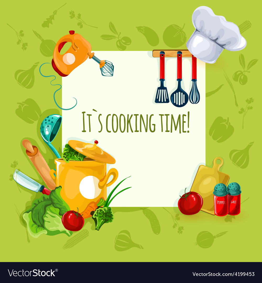 Cooking utensil background vector | Price: 1 Credit (USD $1)