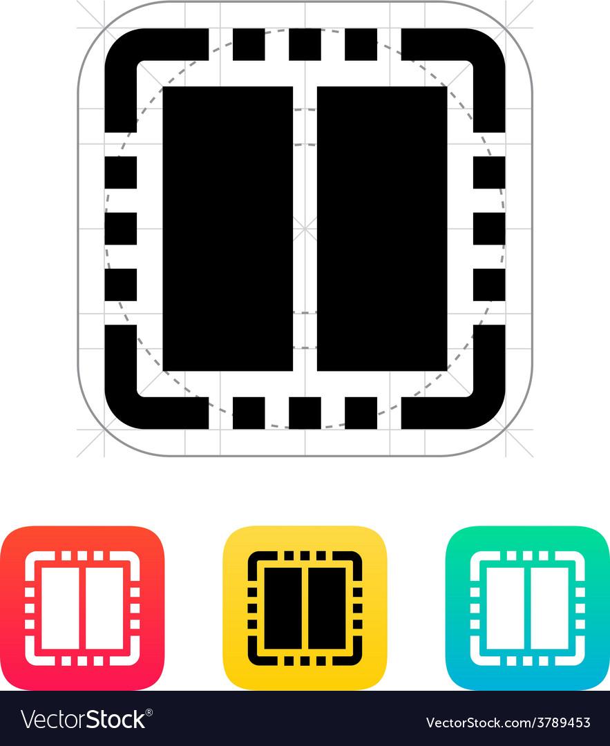 Dual core cpu icon vector   Price: 1 Credit (USD $1)