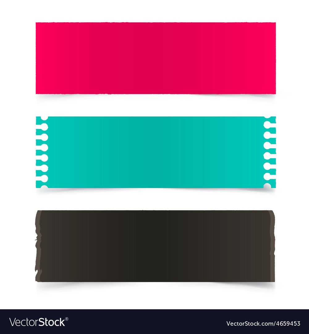 Empty retro papers set isolated on grey background vector   Price: 1 Credit (USD $1)