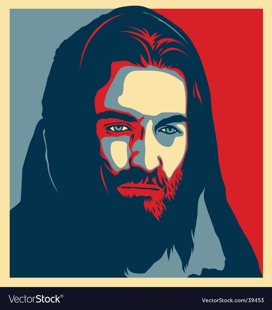Jesus illustration vector | Price: 1 Credit (USD $1)