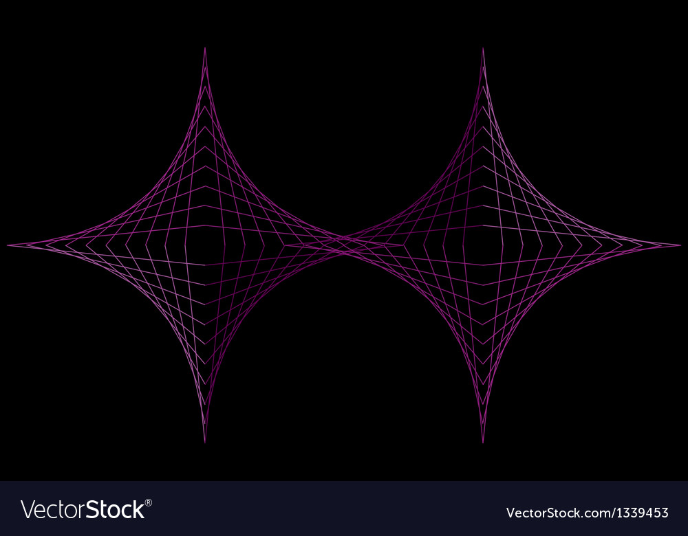 Parabolic curve diamonds vector | Price: 1 Credit (USD $1)