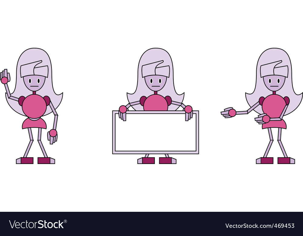 Robot girls vector | Price: 1 Credit (USD $1)