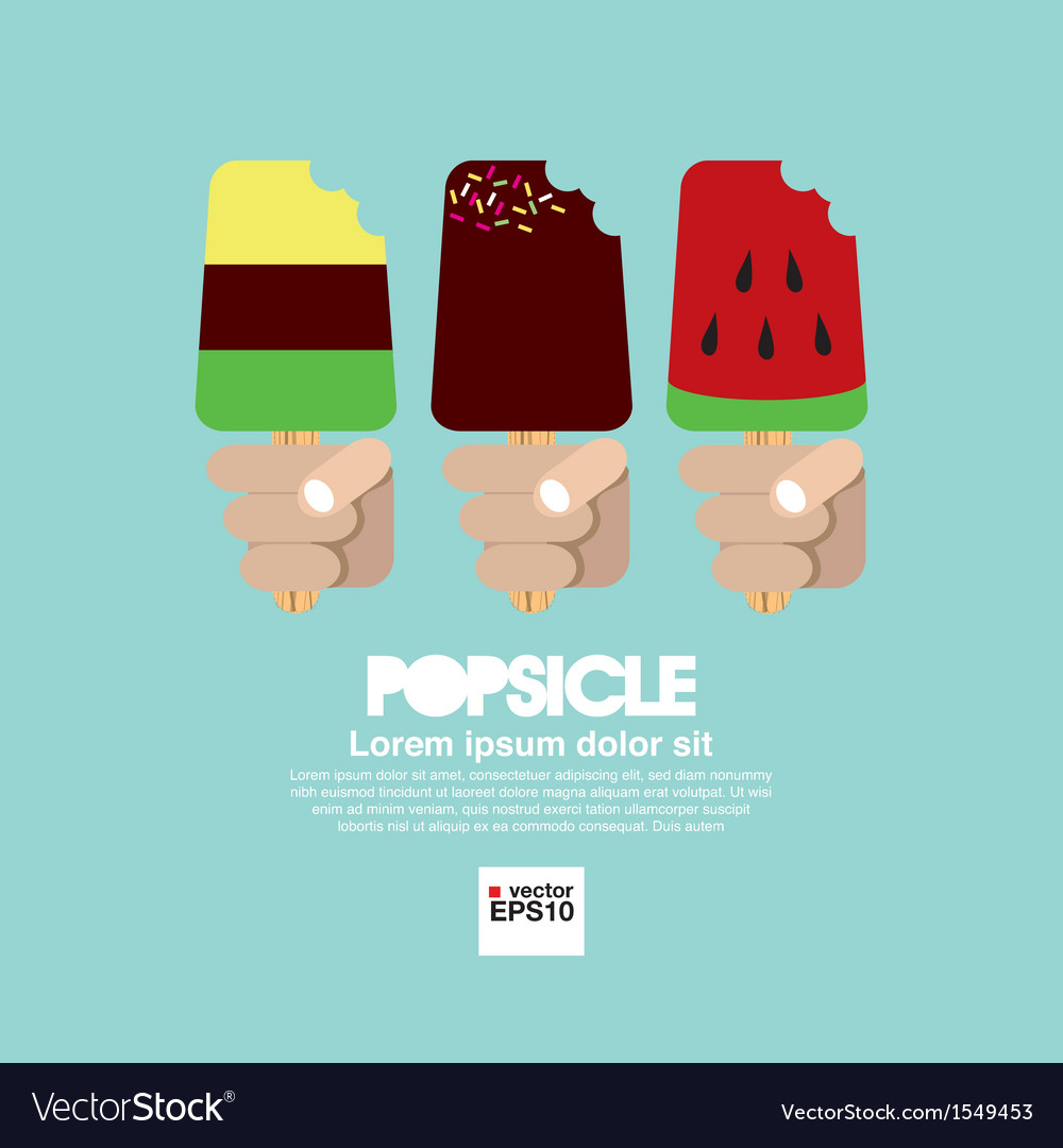 Variety popsicle in hand eps10 vector | Price: 1 Credit (USD $1)