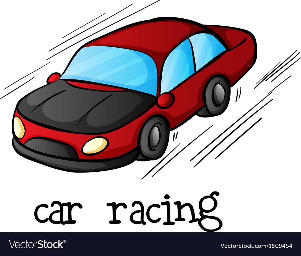A car racing vector | Price: 1 Credit (USD $1)