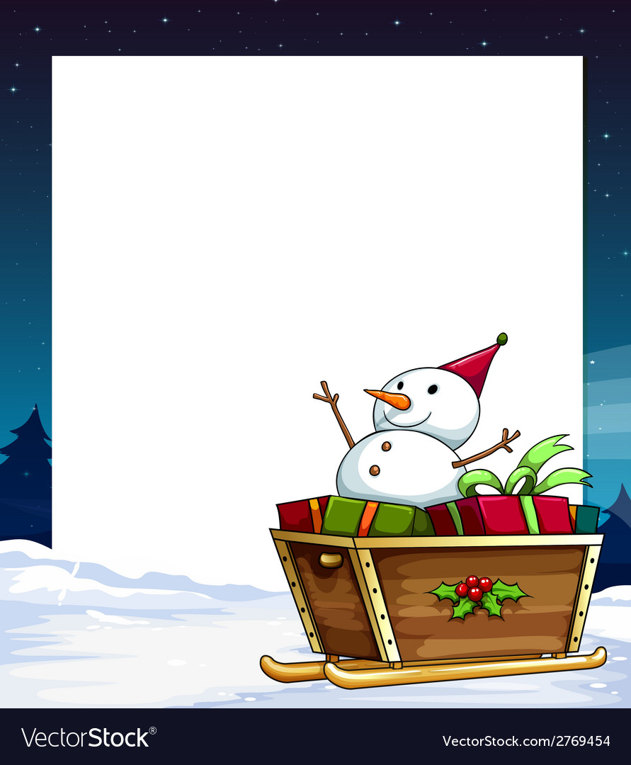 Banner and snowman vector | Price: 1 Credit (USD $1)