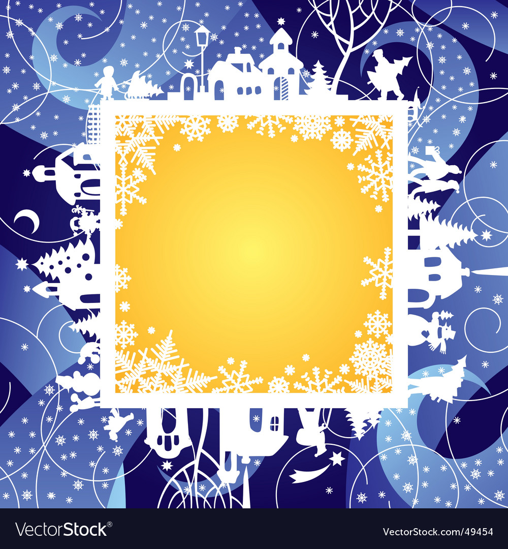Christmas & new year's frame vector | Price: 1 Credit (USD $1)