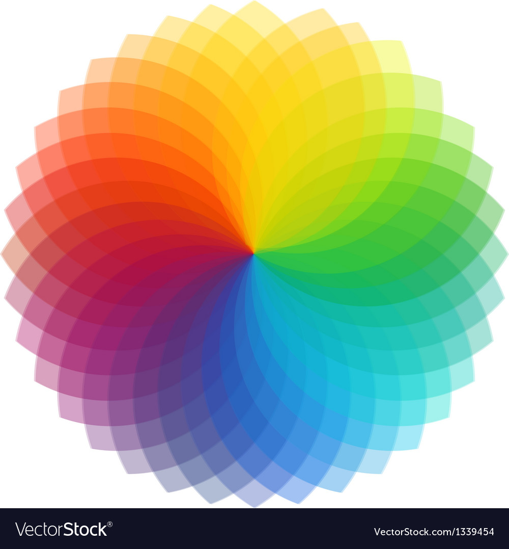 Color wheel background vector | Price: 1 Credit (USD $1)