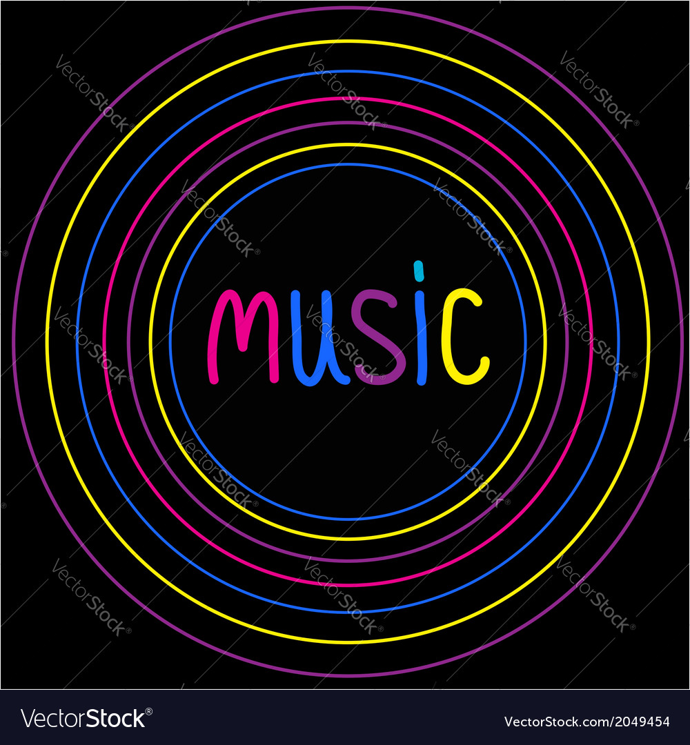 Colorful circles music card vector | Price: 1 Credit (USD $1)