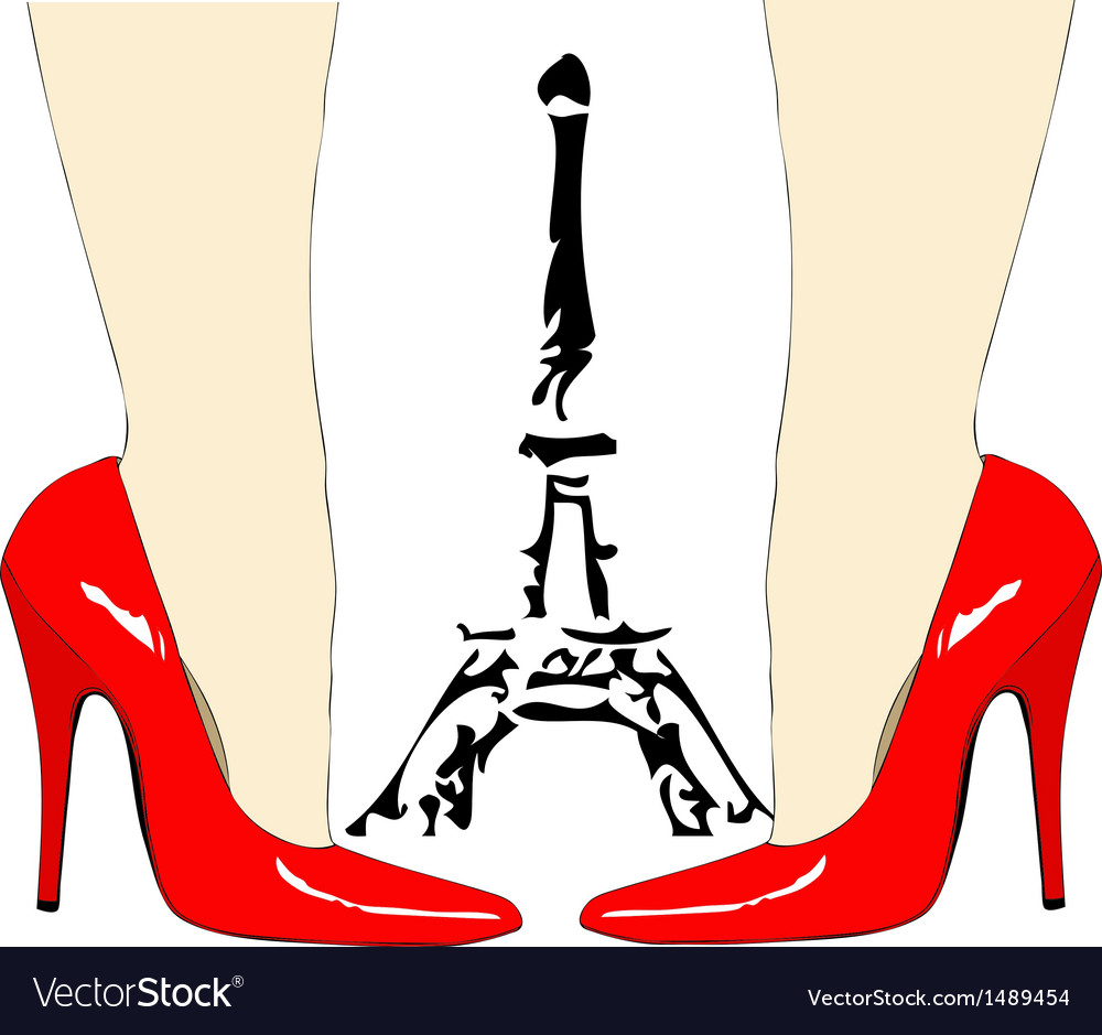 Fashion under the eiffel tower paris vector | Price: 1 Credit (USD $1)