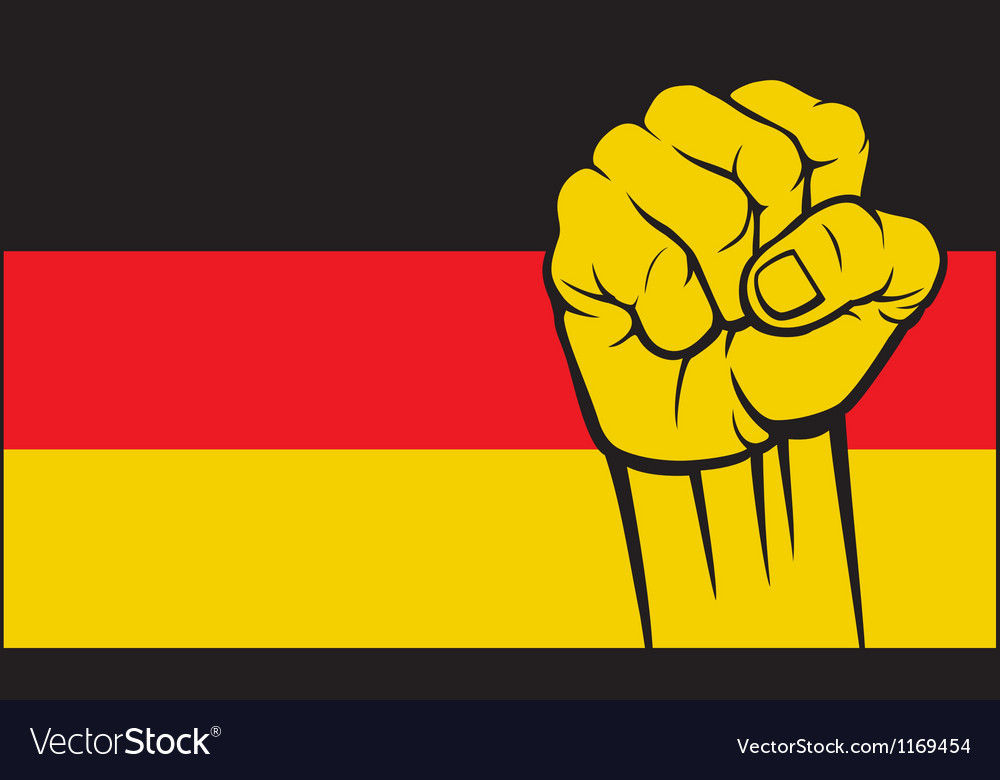 Germany glag with fist vector | Price: 1 Credit (USD $1)