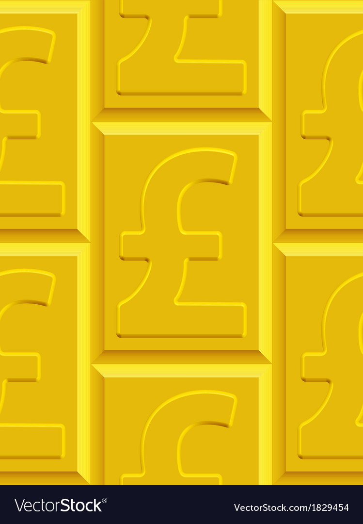 Gold pound sterling pattern vector | Price: 1 Credit (USD $1)