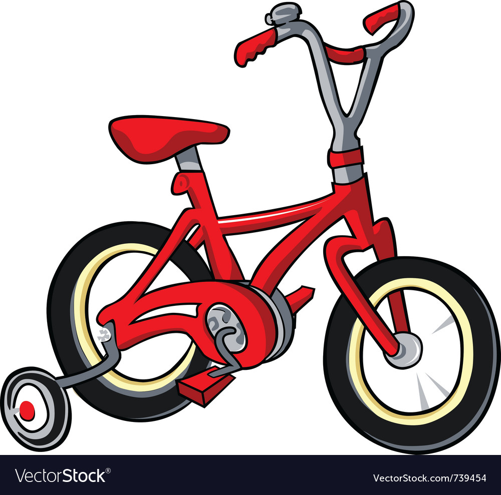 Red bike vector | Price: 1 Credit (USD $1)