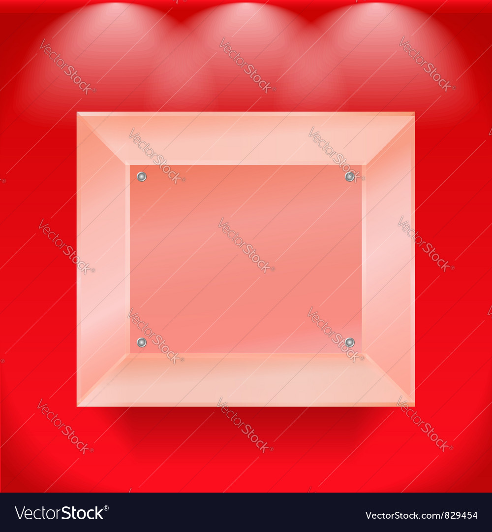 Transparent glass showcase vector | Price: 1 Credit (USD $1)