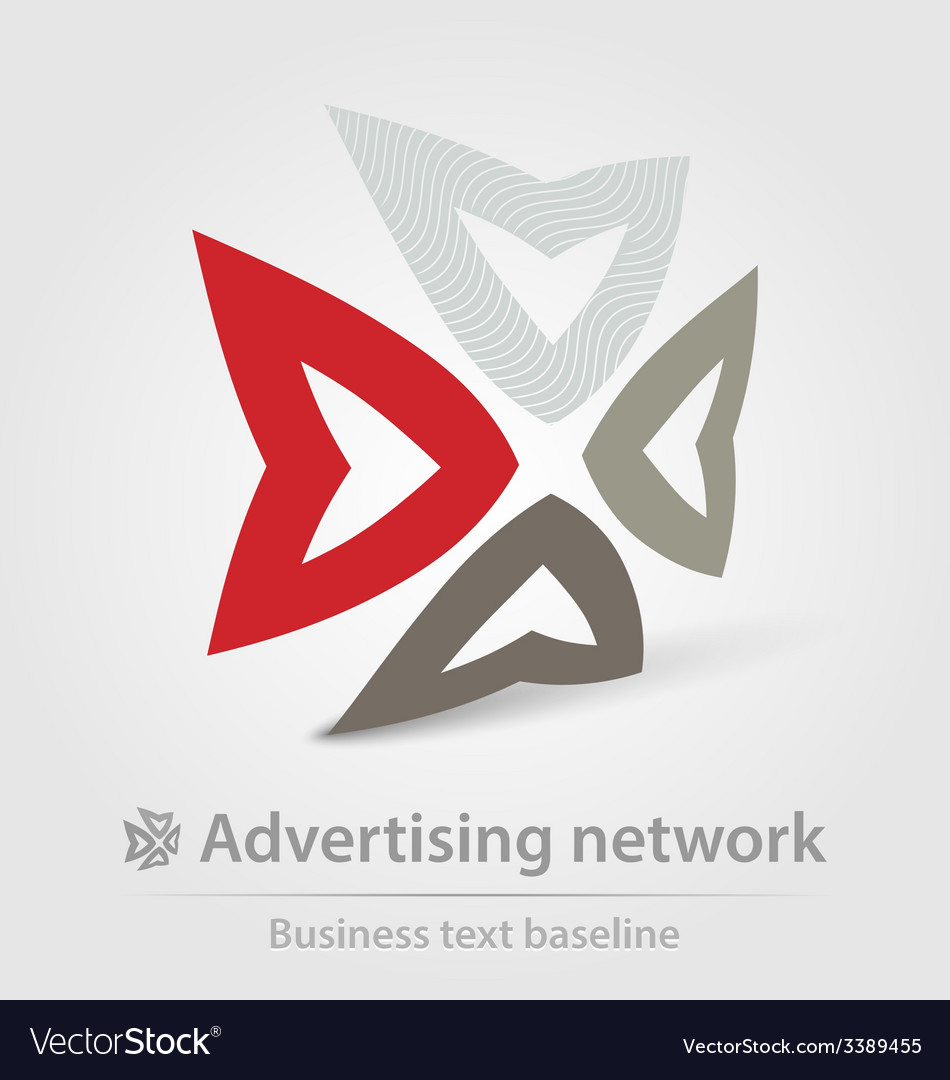 Advertising network business icon vector | Price: 1 Credit (USD $1)
