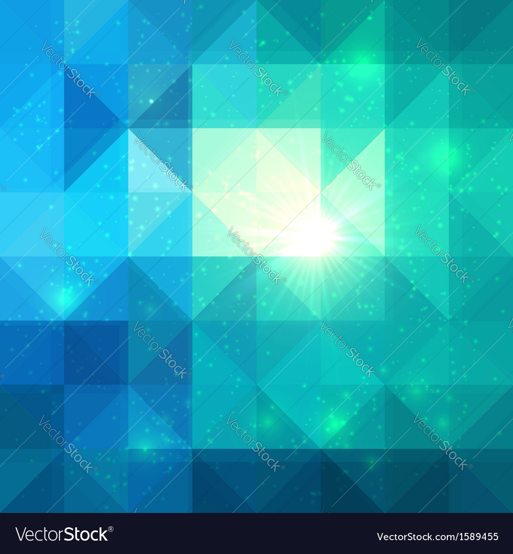 Bright abstract triangles blue background vector | Price: 1 Credit (USD $1)