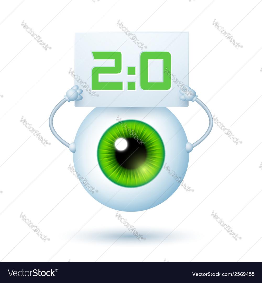 Cartoon cyber eye vector | Price: 1 Credit (USD $1)