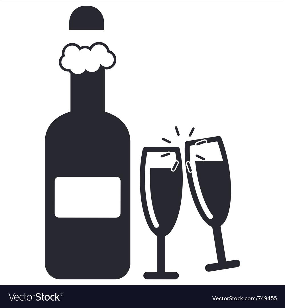 Champagne icon vector | Price: 1 Credit (USD $1)