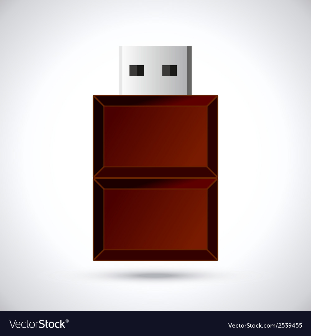 Chocolate flash drive vector | Price: 1 Credit (USD $1)