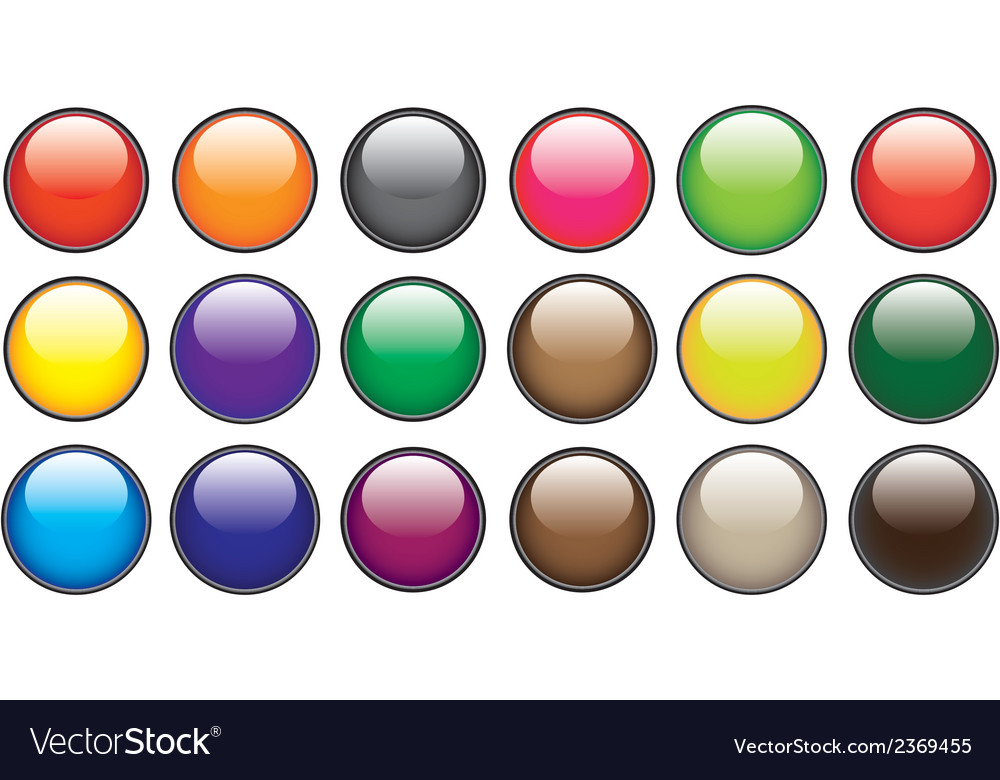 Color circle buttons vector | Price: 1 Credit (USD $1)