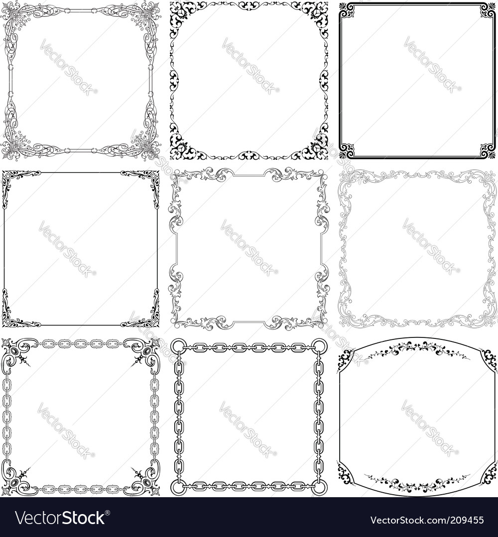 Elegant frames vector | Price: 1 Credit (USD $1)