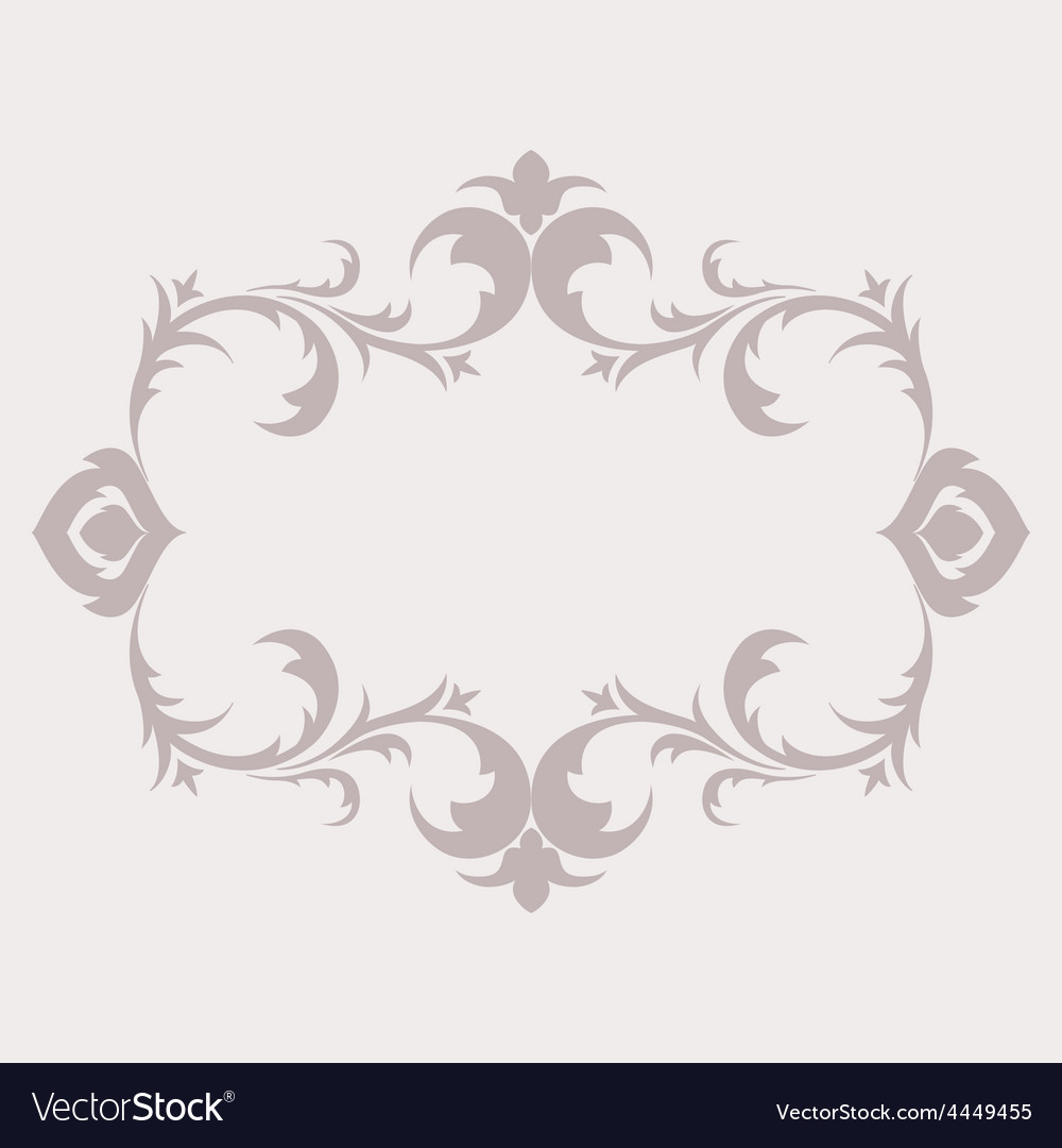 Floral frame in the style of baroque decorative vector | Price: 1 Credit (USD $1)