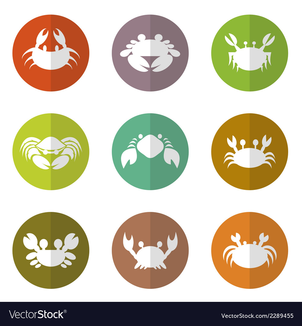 Group of crab in the circle vector | Price: 1 Credit (USD $1)