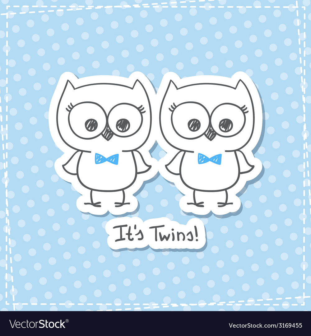 Owls twins vector | Price: 1 Credit (USD $1)
