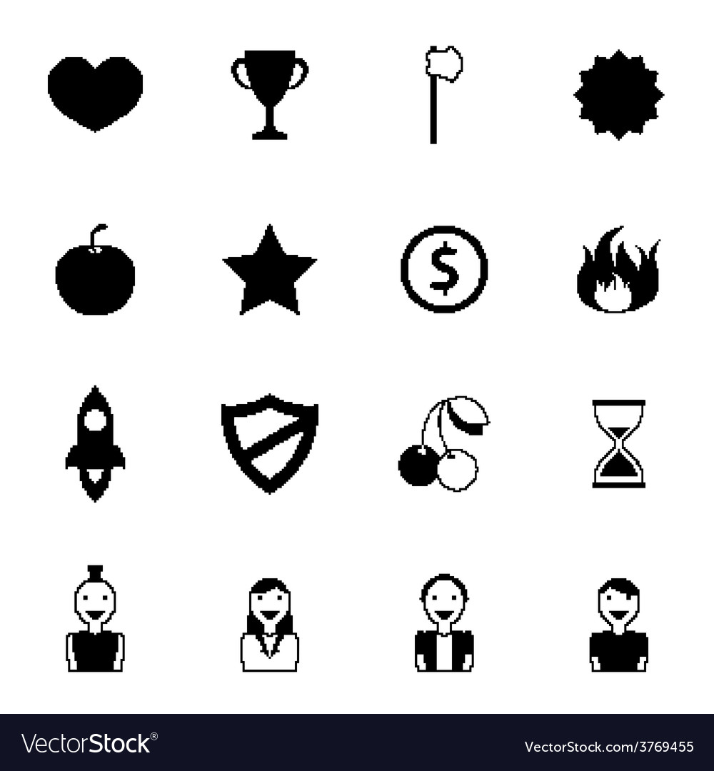 Retro games icons vector | Price: 1 Credit (USD $1)